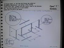Open t fixture   4 pcs. cv