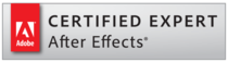 Certified expert after effects badge cv