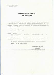 109 cert form2 cv