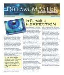 Dreammaster newsletter page 1 cv