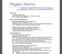 Resume megan harris pr 2 14 cv