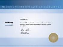 Certificate   mcsa cv
