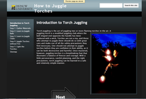 How to juggle torches cv