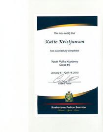 Youth police academy cv