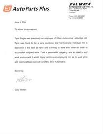 Regier tyrel recommendation letter cv