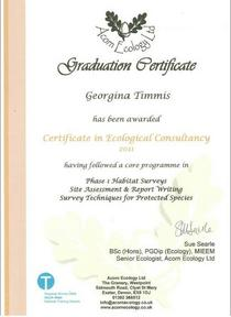 Certificate in ecological consultancy cover cv