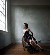 Black brocade portrait cv