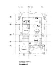 1st storey plan cv