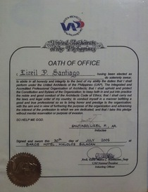 Oath of office cv
