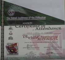 Certificate of attendance 2 cv