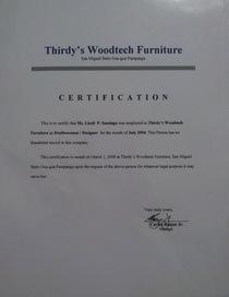 Thirdy s woodtech furn cert cv