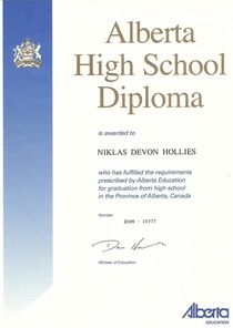 High school dipolma cv