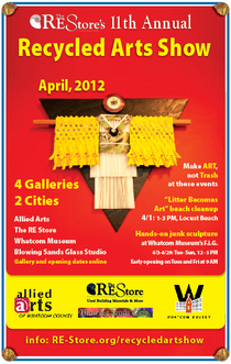 Art show poster web email cv