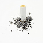 Stubbed cigarette cv
