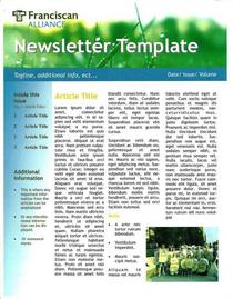 Franciscan newsletter pg1 cv