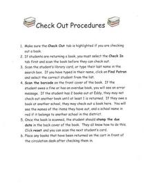 Eddy s check out procedures cv