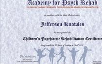 Uspra child certificate cv