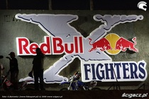 Logo red bull x fighters cv