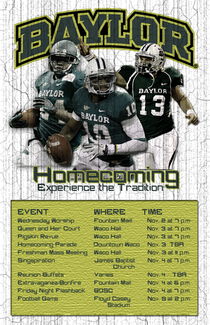 Baylor homecoming flyer cv