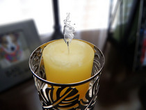 Candle with water flame cv