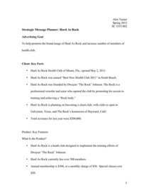 Strategic message planner cv