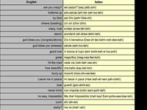 Italian words  cv