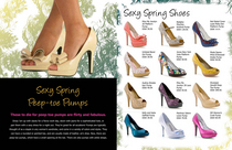 Spring shoes layout cv