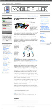 Music and the mobile phone  a revolution in the cloud    mobilefiller cv