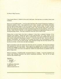 Letter of recomm ja cv