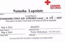 Firstaidcard cv