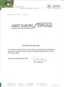 Asko europa stiftung cv