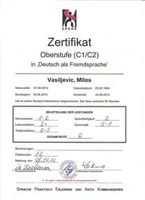 Deutsch zertifikat   oberstufe 1 cv