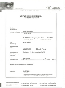 Case study   wto cases cv