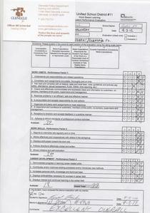 Performance evaluation cv