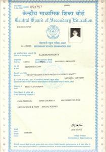 10th certificate 001 cv