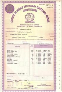 2 mark sheet 001 cv