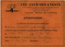 France certificates cv