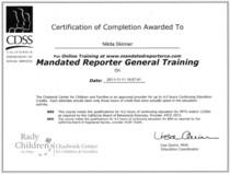 Mandated reporter cv