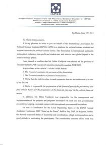 Iapss recommendation milos vasiljevic cv