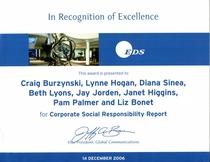 Csr report   eds award certificate cv