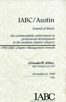 Iabc austin award of merit   document cv