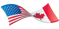 Flags usa canada cv