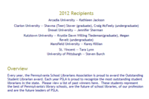 Psla osl 2012 award list and description cv