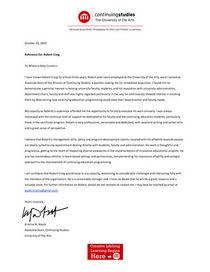 Letter of rec kw cv