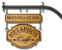 Meetings at the metaphor cafe logo cv