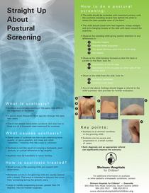 Scoliosis poster cv