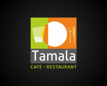 Tamala cafe   orange   black background cv