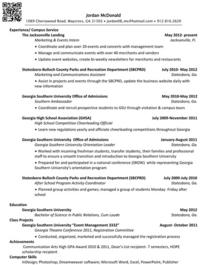 Mcdonald resume cv