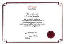 Obiee10g certificate cv