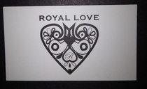 Royal love business card showing rebrand cv